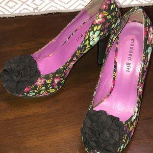 Madden Girl platform heels floral Salza
